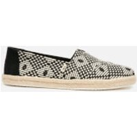 TOMS Women's Geo Diamond Alpargata Espadrilles - Black - UK 4