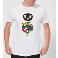 Solving Rubik's Cube Fun Men's T-Shirt - White - M - White
