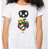 Solving Rubik's Cube Fun Women's T-Shirt - White - XXL - White - Fun Gifts