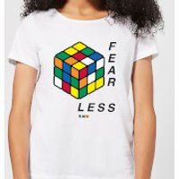 Fear Less Rubik's Cube Women's T-Shirt - White - M - White