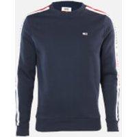 Tommy Jeans Men's Branded Tape Sweatshirt - Twilight Navy - S