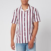 Tommy Jeans Men's Printed Stripe Camp Shirt - White/Multi - L
