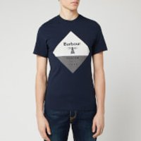 Barbour Beacon Men's Diamond T-Shirt - Navy - S
