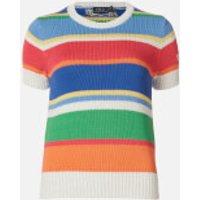 Polo Ralph Lauren Women's Classic Short Sleeve Sweatshirt - Multi - XS