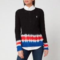 Polo Ralph Lauren Women's Tie Dye Long Sleeve Knitted Jumper - Black/Multi - S