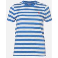 Polo Ralph Lauren Women's Stripe Short Sleeve T-Shirt - White/Indigo Blue - XS