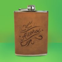 Sweet Sweet Alcohol Engraved Hip Flask - Brown - Engraved Gifts