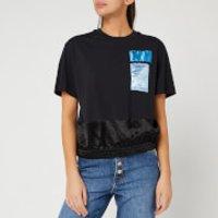 Helmut Lang Women's Blouson T-Shirt - Basalt Black - XS