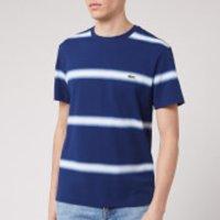 Lacoste Men's Stripe T-Shirt - Blue/White - 6/XL