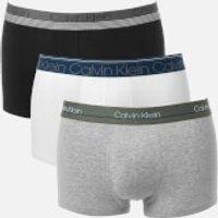 Calvin Klein Men's 3 Pack Trunks - White/Black/Grey Heather - S