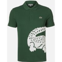 Lacoste Men's Large Croc Polo Shirt - Green - 7XXL