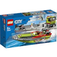 LEGO City Great Vehicles: Race Boat Transporter (60254) - Boat Gifts