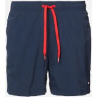 Tommy Hilfiger Men's Small Logo Swim Shorts - Pitch Blue - L