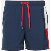 Tommy Hilfiger Men's Side Flag Swim Shorts - Pitch Blue - L