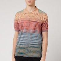 Missoni Men's Riga Summer Sunset Knitted Polo Shirt - Blue - XL/52