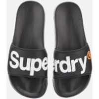 Superdry Men's Classic Pool Slide Sandals - Black - S