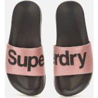 Superdry Superdry Women's Pool Slide Sandals - Rose Gold - L