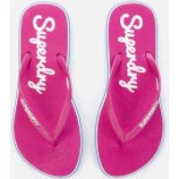 Superdry Women's Neon Rainbow Sleek Flip Flops - Sienna Pink - S