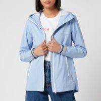 Superdry Womens Long Sleeved Essentials Sleeved Harpa Waterproof Jacket - Blue Heron - UK 14