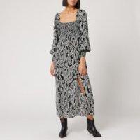 RIXO Women's Marie Dress - Tree Roots Black Cream - XS