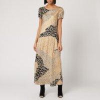 RIXO Women's Reese Dress - Gold Patchwork Leopard - M