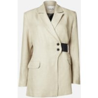 Ganni Women's Linen Blazer - Tannin - EU 36/UK 8
