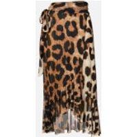 Ganni Women's Printed Mesh Skirt - Maxi Leopard - EU 40/UK 12