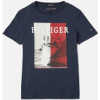 Tommy Kids Boys Photoprint T-Shirt - Twilight Navy - 8 Years