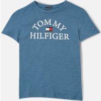 Tommy Kids Boys Essential Arch Logo T-Shirt - Audacious Blue - 7 Years
