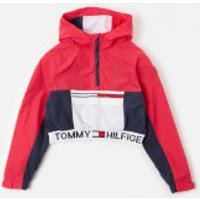 Tommy Kids Girls' Popover Hoodie - Blush Red - 7 Years