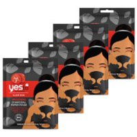 yes to Tomatoes Detoxifying Charcoal Paper Single Use Mask (Pack of 4)