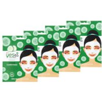 yes to Cucumber Calming Paper Single Use Mask (Pack of 4)