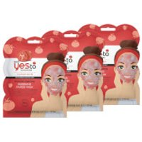 yes to Tomatoes Blemish Fighting Bubbling Single Use Mask (Pack of 3)
