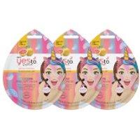 yes to Grapefruit Vitamin C Glow-Boosting Unicorn Single Use Peel-Off Mask (Pack of 3)