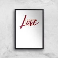 Love & Lust Art Print - A2 - Black Frame