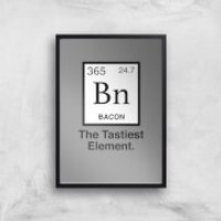 Bacon Element Art Print - A2 - Black Frame