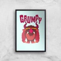 Grumpy Art Print - A2 - Black Frame