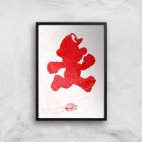 Nintendo Lets A Go Go Art Print - A2 - Black Frame