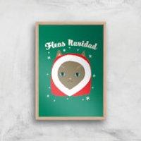 Fleas Navidad Art Print - A2 - White Frame