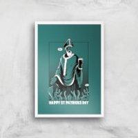 St. Patricks Day Art Print - A2 - White Frame - St Patricks Day Gifts