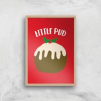 Little Pud Art Print - A2 - White Frame