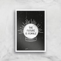 The Future Is Female Art Print - A2 - White Frame