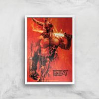 Hellboy Son Of The Fallen One Art Print - A2 - White Frame - Son Gifts