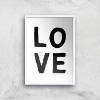 Love Art Print - A2 - Wood Frame