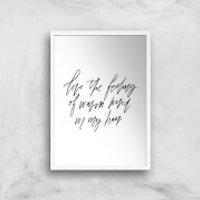 PlanetA444 The Feeling Of Warm Wind In My Hair Art Print - A2 - White Frame - Warm Gifts