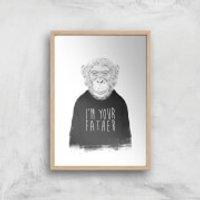 Balazs Solti I'm Your Father Art Print - A2 - Wood Frame