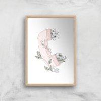 Your Call Art Print - A2 - Wood Frame
