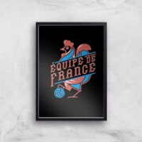 Equipe De France Art Print - A3 - Black Frame - France Gifts