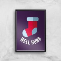 Well Hung Art Print - A3 - Black Frame