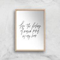 PlanetA444 The Feeling Of Warm Wind In My Hair Art Print - A2 - Wood Frame - Warm Gifts